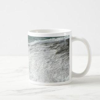 Wave Breaking On Big Rocks Coffee Mugs