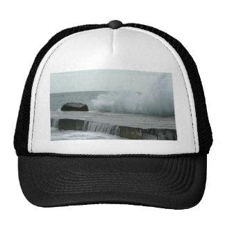 Wave Breaking On Pier Trucker Hat