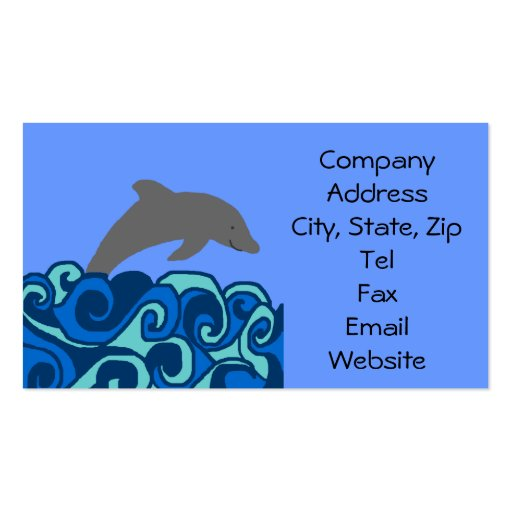 Wave curl dolphin business cards