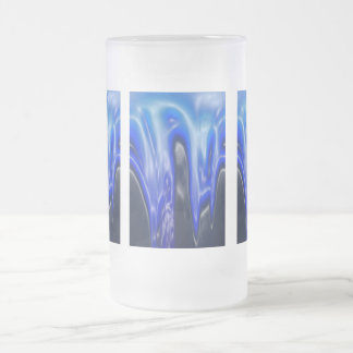 Wave, Designs By Che Dean Frosted Glass Mug