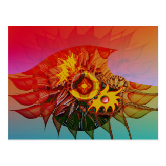 Wave flower postcard
