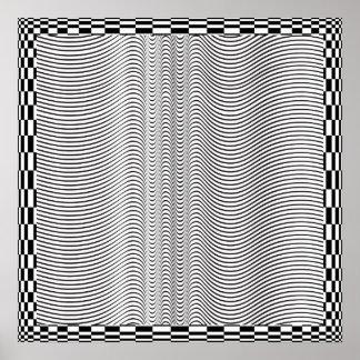 Wave Form Op Art Poster