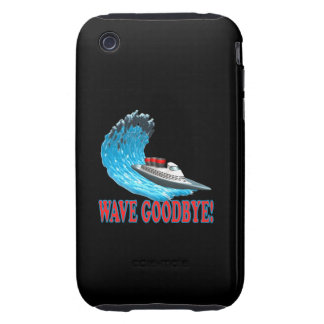 Wave Goodbye Tough iPhone 3 Cases