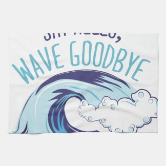 Wave Goodbye Tea Towel