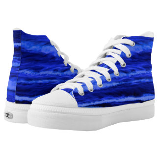 wave high top tennis shoe printed shoes