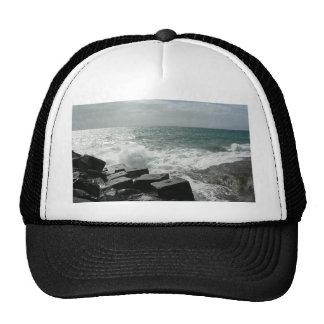 Wave Hit On Pier Mesh Hat