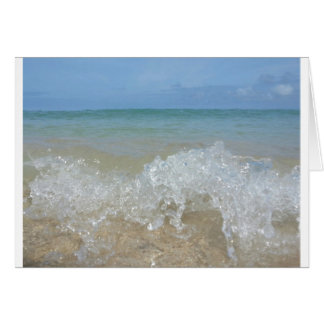 Wave in Motion Hawaii Beach Oahu Greeting Cards