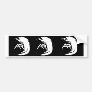 Wave monogram car bumper sticker