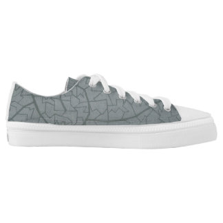 Wave Mosaic Tennis Shoe Printed Shoes