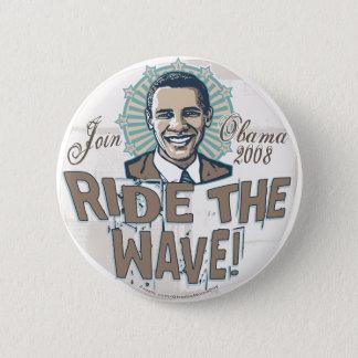 Wave Obama Button