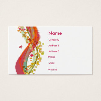 Wave Of Stars And Flowers Business Card