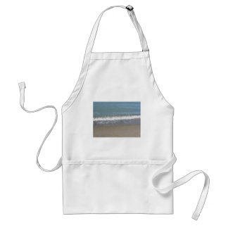 Wave of the sea on the sand beach standard apron