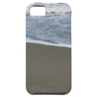 Wave of the sea on the sand beach tough iPhone 5 case