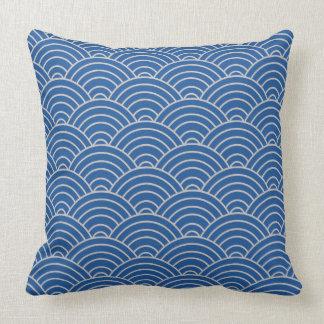 Wave Pattern China Blue Cushion
