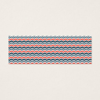 Wave Pattern Mini Business Card
