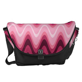 Wave Pink Design Commuter Bags