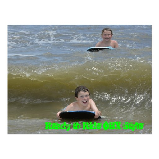Wave Riding in the OBX OuterBanks of NC Ocean Post Cards