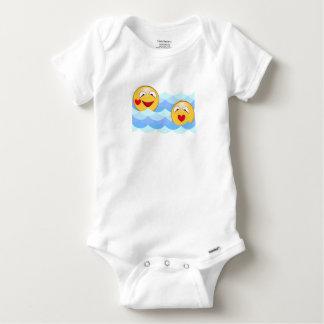 Wave smiley baby onesie