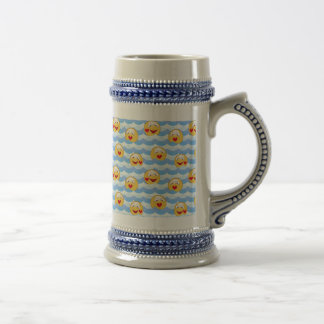 Wave smiley beer stein