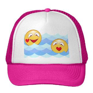 Wave smiley cap