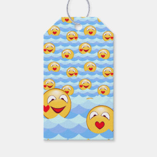 Wave smiley gift tags