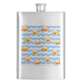 Wave smiley hip flask