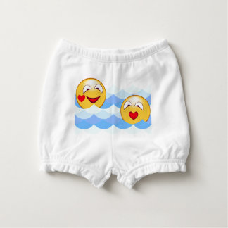 Wave smiley nappy cover