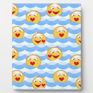 Wave smiley plaque
