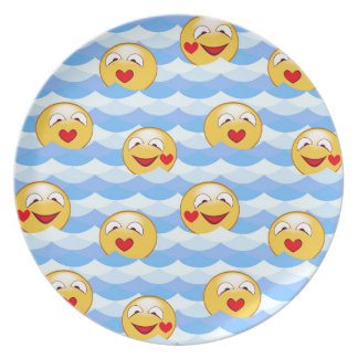 Wave smiley plate