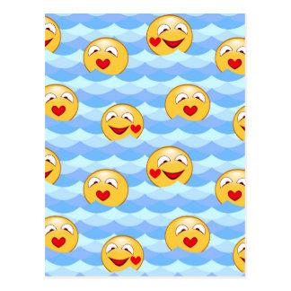 Wave smiley postcard
