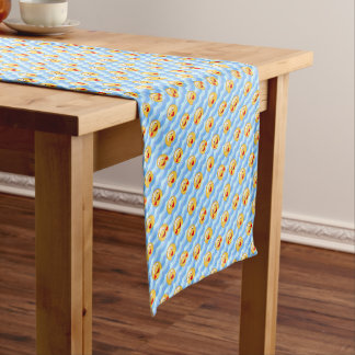 Wave smiley short table runner
