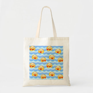 Wave smiley tote bag