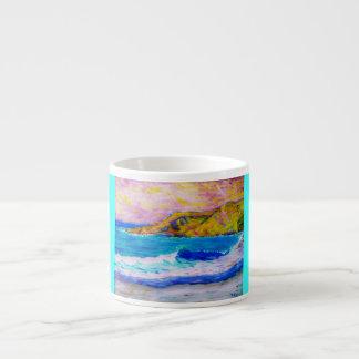 wave song 6 oz ceramic espresso cup
