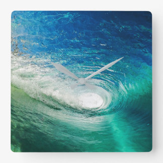 Wave Square Wall Clock