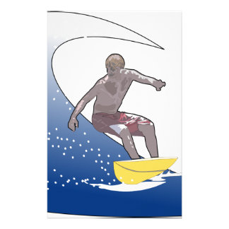 Wave Surfing Stationery