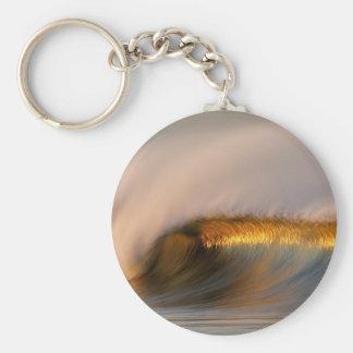 wave Suset  california Key Ring