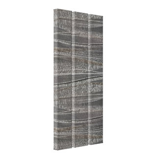 Wave Textured Concrete Triptych Canvas Print