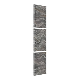 Wave Textured Concrete Vertical Triptych Canvas Print