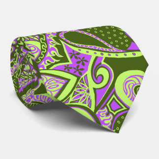 Wave Trip Floral Paisley Two-side Printed Tie