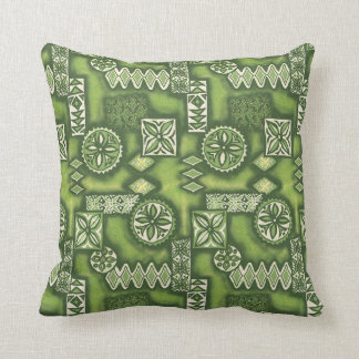 Wave Warrior Hawaiian Tapa Cushion