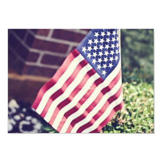 "Wave your flag""invite"" 13 cm x 18 cm invitation card"