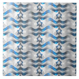 Wave Your Israeli Flag Ceramic Tile