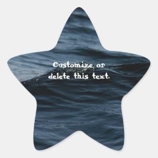 Wavelet; Customizable Star Sticker