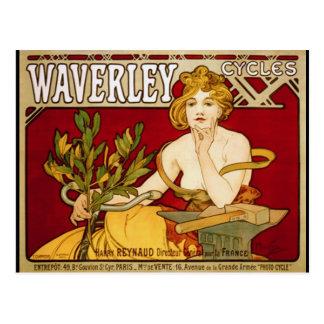 Waverley Cycles - Art Nouveau - Alphonse Mucha Post Cards