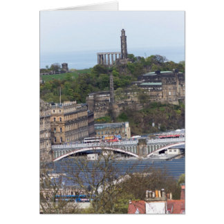 Waverley Station and other monuments in Edinburgh Card