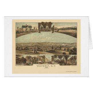 Waverly, NY Panoramic Map - 1881 Card