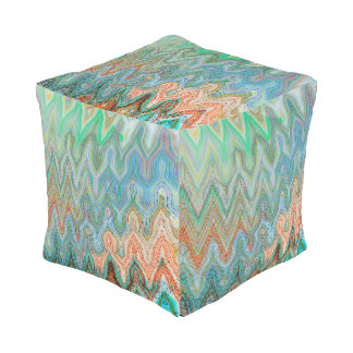 Waverly Peak Outdoor Cubed Pouf by C.L. Brown
