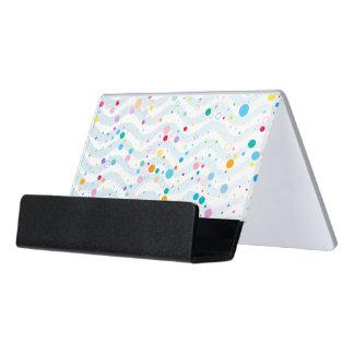 Waves1 - desk card holder desk business card holder