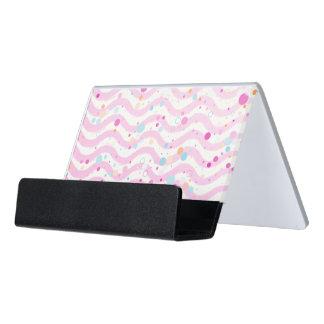 Waves2 - desk card holder desk business card holder