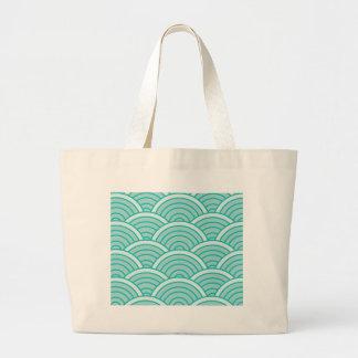 waves 2-01 large tote bag